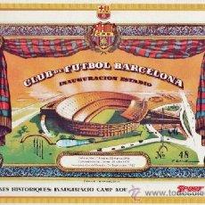 Coleccionismo deportivo: MINI CARTEL - BARÇA / FC BARCELONA - LAMINAS HISTORIQUES / CAMP NOU - DIARI SPORT - AÑOS 90. Lote 38231692