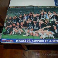 Coleccionismo deportivo: SCHALKE 04: PÓSTER DEL EQUIPO CAMPEÓN DE LA COPA DE LA UEFA EN LA TEMPORADA 96-97. Lote 38315537
