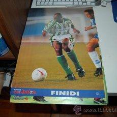 Coleccionismo deportivo: REAL BETIS BALOMPIÉ: PÓSTER DE FINIDI GEORGE. 1997. Lote 38315644