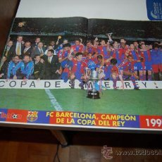 Coleccionismo deportivo: BARÇA: PÓSTER DEL EQUIPO CAMPEÓN DE LA COPA DEL REY DE 1998. Lote 38315663