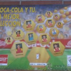 Coleccionismo deportivo: POSTER SELECCION ESPAÑOLA FUTBOL MUNDIAL USA 94 COCA COLA 68 CM X 49 CM.. Lote 38377665
