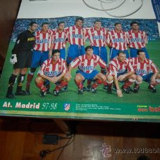 Coleccionismo deportivo: ATLÉTICO DE MADRID: PÓSTER DE LA TEMPORADA 97-98. Lote 38404565
