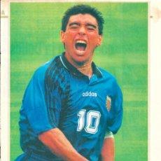 Coleccionismo deportivo: SELECCIÓN DE FÚTBOL DE ARGENTINA. DIEGO ARMANDO MARADONA: MINIPÓSTER DE LOS AÑOS 90. Lote 38462483
