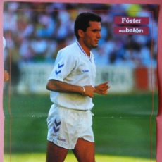 Coleccionismo deportivo: POSTER HAGI (REAL MADRID) 90/91 - REVISTA DON BALON 1990/1991 - LIGA FUTBOL. Lote 277613523