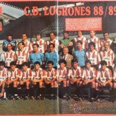 Collectionnisme sportif: POSTER CD LOGROÑES 88/89 - REVISTA DON BALON LIGA FUTBOL 88/89 - PLANTILLA. Lote 38985538