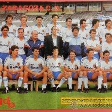 Coleccionismo deportivo: POSTER DOBLE REAL ZARAGOZA - SPORTING GIJON 87/88 - DON BALON LIGA FUTBOL 87/88 - PLANTILLA. Lote 38985812