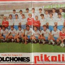 Coleccionismo deportivo: POSTER REAL ZARAGOZA 83/84 - REVISTA DON BALON LIGA FUTBOL 83/84 - PLANTILLA . Lote 38985898