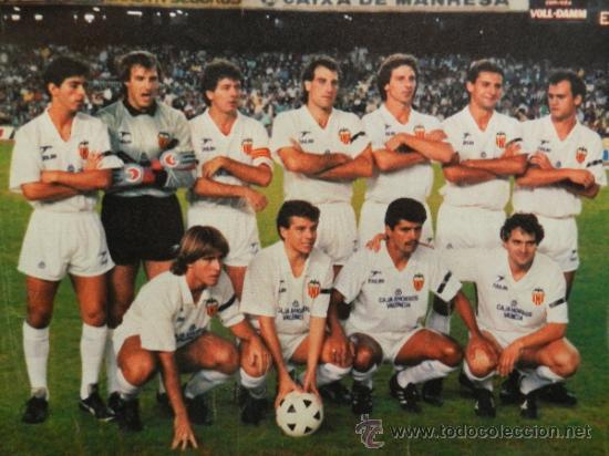 MINI POSTER VALENCIA CF 88/89 - REVISTA AS COLOR LIGA FUTBOL 1988/1989 ALINEACION - (Coleccionismo Deportivo - Carteles de Fútbol)