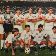 Coleccionismo deportivo: MINI POSTER VALENCIA CF 88/89 - REVISTA AS COLOR LIGA FUTBOL 1988/1989 ALINEACION - . Lote 38978115