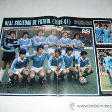 Coleccionismo deportivo: POSTER ALINEACION REAL SOCIEDAD TEMPORADA 80-81 - REVISTA AS COLOR - . Lote 39227164