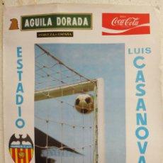 Coleccionismo deportivo: CARTEL FUTBOL , VALENCIA CF. FK ESTRELLA ROJA BELGRADO , UEFA 1972 , ORIGINAL. Lote 39371285