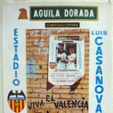 Coleccionismo deportivo: CARTEL FUTBOL , VALENCIA CF. ATLETICO MADRID , SPORTING DE GIJON , 1974 , ORIGINAL. Lote 39371479