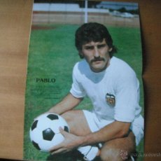 Coleccionismo deportivo: POSTER PABLO (VALENCIA C.F.) AÑOS 80'.. Lote 39775143