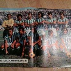 Coleccionismo deportivo: ANTIGUO CARTEL POSTER ALINEACION BETIS 75 76 1975 1976 - AS COLOR 225. Lote 40169579