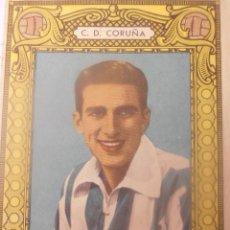 Coleccionismo deportivo: CARTELITO DEL JUGADOR DEL DEPORTIVO DE LA CORUÑA PEDRITO. DESPLEGABLE.. Lote 40292602