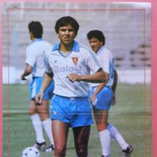 Collectionnisme sportif: POSTER RUBEN SOSA (REAL ZARAGOZA) 87/88 - REVISTA DON BALON LIGA FUTBOL 1987/1988. Lote 40683851