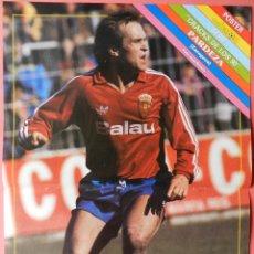 Coleccionismo deportivo: POSTER PARDEZA (REAL ZARAGOZA) 89/90 - REVISTA DON BALON LIGA FUTBOL 1989/1990. Lote 40693675