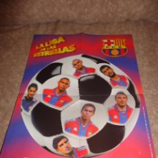 Coleccionismo deportivo: POSTER DEL F.C. BARCELONA. TEMPORADA 96-97. GOLOSINAS VIDAL. Lote 40696751