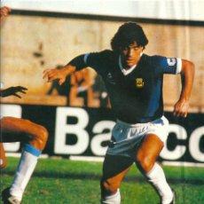 Coleccionismo deportivo: SELECCION DE FÚTBOL DE ARGENTINA: MINIPÓSTER DE DIEO ARMANDO MARADONA. Lote 40786080
