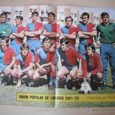 Coleccionismo deportivo: POSTER AS COLOR Nº 51. UNION POPULAR DE LANGREO. 1971/72.. Lote 40830764