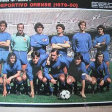 Coleccionismo deportivo: POSTER AS COLOR 1/2 PAGINA. C.D.ORENSE 1979/80.. Lote 40933915