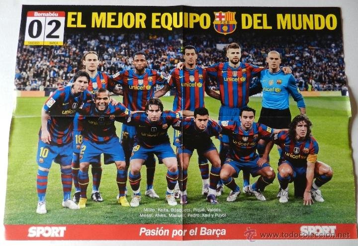 Poster Grande Fc Barcelona 2009 2010 Liga Fut Sold Through Direct Sale 40935407