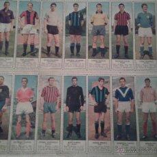 Coleccionismo deportivo: LAMINA DE FUTBOLISTAS ITALIANOS REPRESENTANDO A LOS EQUIPOS DE 1º DIVISION DEL CALCIO ¿1956-1960?. Lote 41107856