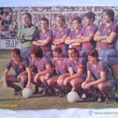 Coleccionismo deportivo: BARÇA FUTBOL POSTER REVISTA ONZE EQUIPO F.C.BARCELONA TEMP. 1978 - 1979 LIGA. Lote 41265499