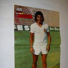 Coleccionismo deportivo: POSTER 51.5 X 33.5 CM. - VALDEZ (VALENCIA CF) AÑO 1973- REVISTA AS COLOR AÑOS 70. Lote 41272784
