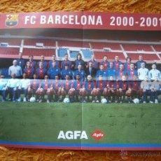 Coleccionismo deportivo: POSTER PLANTILLA FC BARCELONA TEMPORADA 2000-01. Lote 41577914