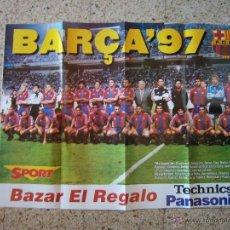 Coleccionismo deportivo: POSTER FC BARCELONA PLANTILLA TEMPORADA 1997-98. Lote 41578130
