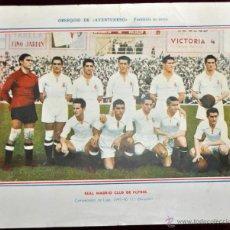 Coleccionismo deportivo: POSTER DEL REAL MADRID CLUB DE FUTBOL. TEMPORADA 1945-46 OBSEQUIO DE AVENTURERO. Lote 52127019