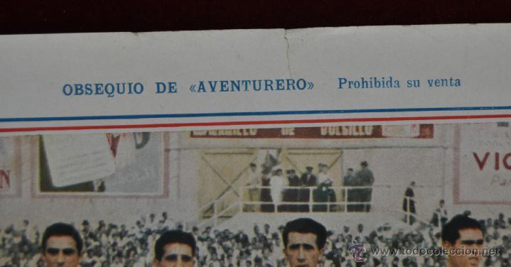 Coleccionismo deportivo: POSTER DEL REAL MADRID CLUB DE FUTBOL. TEMPORADA 1945-46 OBSEQUIO DE AVENTURERO - Foto 2 - 52127019