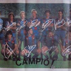 Coleccionismo deportivo: POSTER F.C BARCELONA -CAMPEON DE LIGA 1984/85 - CON LA FIRMA IMPRESA DE LOS JUGADORES. Lote 42033683