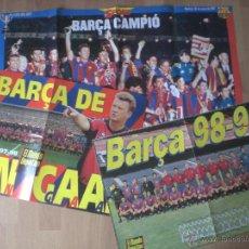 Coleccionismo deportivo: LOTE DE 3 POSTERS DEL FC.BARCELONA (96/97, 97/98, 98/99). Lote 42098849