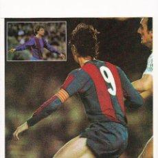 Coleccionismo deportivo: JOHAN CRUYFF : GRAN RECORTE DEL JUGADOR PARTIDO CON EL FC BARCELONA. Lote 42165515