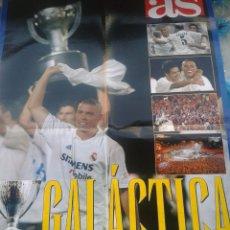Coleccionismo deportivo: SUPER POSTER DE LA PRIMERA DE RONALDO Y VAN 29 GALACTICA AS. IMPECABLE. Lote 42293377