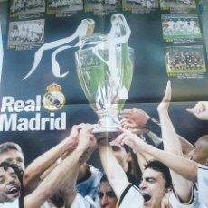 Coleccionismo deportivo: SUPER POSTER REAL MADRID Y VAN OCHO AS ,BUEN ESTADO. Lote 42293830