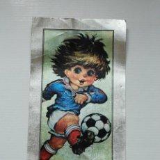 Coleccionismo deportivo: ANTIGUO CARTEL ESPAÑA MUNDIAL 82 FUTBOL CARTON PLATEADO. Lote 42366780
