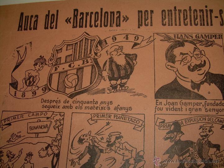 AUCA......F.C. BARCELONA.....50 ANIVERSARIO.......1899 - 1949. (Coleccionismo Deportivo - Carteles de Fútbol)