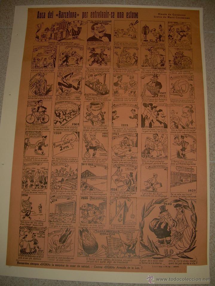 Coleccionismo deportivo: AUCA......F.C. BARCELONA.....50 ANIVERSARIO.......1899 - 1949. - Foto 2 - 42473887