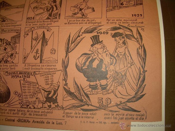 Coleccionismo deportivo: AUCA......F.C. BARCELONA.....50 ANIVERSARIO.......1899 - 1949. - Foto 3 - 42473887