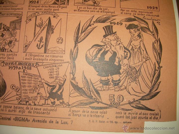 Coleccionismo deportivo: AUCA......F.C. BARCELONA.....50 ANIVERSARIO.......1899 - 1949. - Foto 8 - 42473887