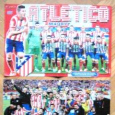 Coleccionismo deportivo: 2 POSTERS ATLETICO MADRID 13-14 Y CAMPEON EUROPA LEAGUE 2012 APROX. 42 X 30 CM. Lote 42770581