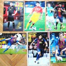 Coleccionismo deportivo: LOTE LOT 6 POSTERS CESC FABREGAS FC BARCELONA NO ARSENAL FC ESPAÑA DIFICILES !!!. Lote 42770612