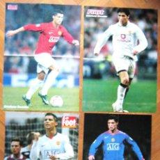Coleccionismo deportivo: LOTE LOT 4 POSTERS CRISTIANO RONALDO MANCHESTER UNITED, PORTUGAL NO REAL MADRID. Lote 42770776