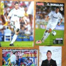 Coleccionismo deportivo: LOTE LOT 4 POSTERS CRISTIANO RONALDO REAL MADRID EX MANCHESTER UNITED, PORTUGAL. Lote 42770811