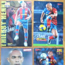 Coleccionismo deportivo: LOTE LOT 4 POSTERS THIERRY HENRY FC BARCELONA FRANCE EX ARSENAL APROX 42 X 30 CM. Lote 42770891