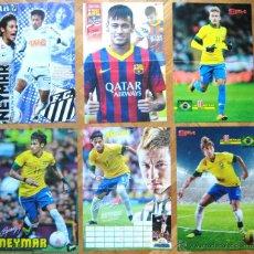 Coleccionismo deportivo: LOTE LOT 6 POSTERS NEYMAR EN FC BARCELONA, BRASIL Y SANTOS. DIFERENTES 42X30 CM. Lote 42771068