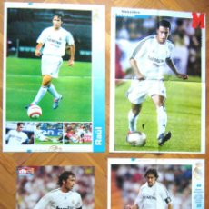 Coleccionismo deportivo: LOTE LOT 4 POSTERS GRANDES RAUL REAL MADRID SPAIN EX SCHALKE 04 DIFERENTES. Lote 42771110